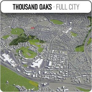 3D thousand oaks surrounding - model