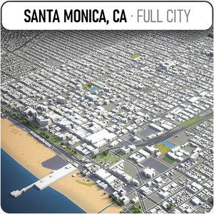 3D santa monica surrounding -