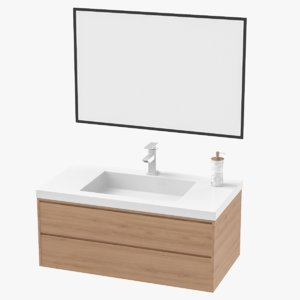 3D bathroom sink unit model