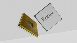 3D model ryzen cpu