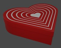 heart shaped box 3D model