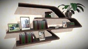 modern smooth shelf furniture 3D model