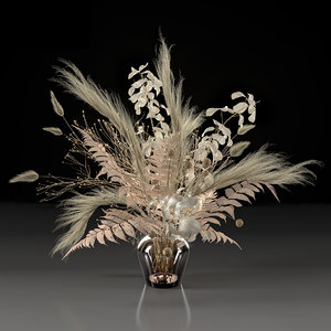 dry bouquet 3D model