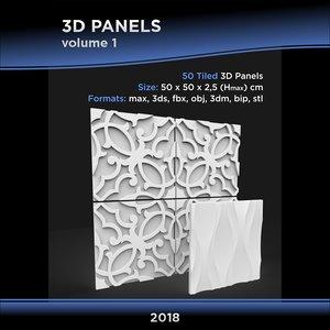 3D model tiled panels