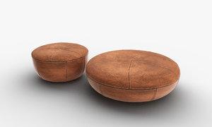 3D padded stool