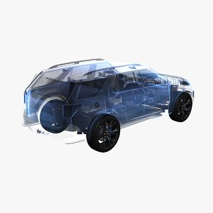3D model electric awd suspension