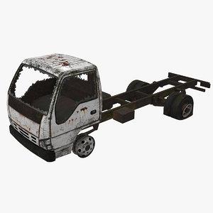 abandoned truck car vehicle 3D model