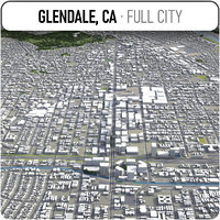 glendale surrounding - 3D model
