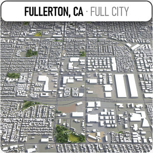 3D fullerton surrounding - model