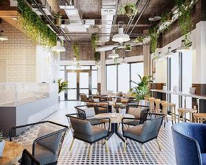 coffe scandinavia restaurant cafe 3D model