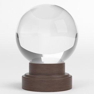 orbuculum crystal sphere 3D model