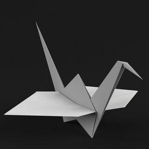 3D origami paper crane
