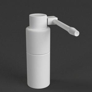 oropharyngeal spray bottle 1 3D model