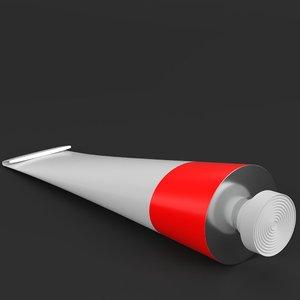 3D paint tube model