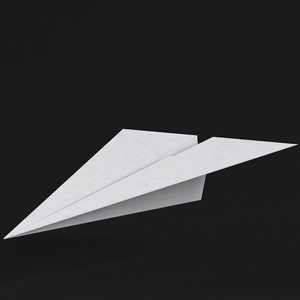 paper plane 1 3D model
