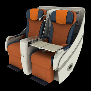 airbus a330 seat 3d model