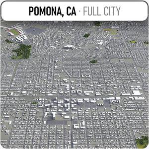 pomona surrounding - 3D model