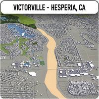 victorville - hesperia surrounding 3D model