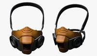 Gas mask helmet 3d model military combat fantasy cyborg