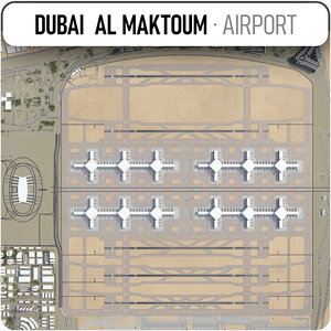 3D model dubai al maktoum international