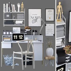 decorative office 3D model