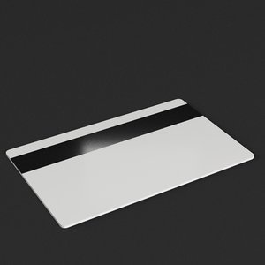 plastic card magnetic strip 3D model