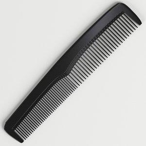pocket comb 3D model