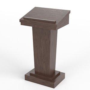 tribune podium 1 3D