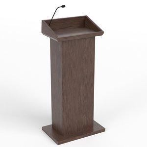 tribune podium 2 3D model