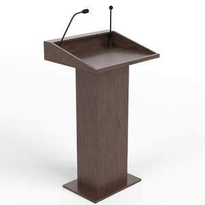 tribune podium 3 3D model
