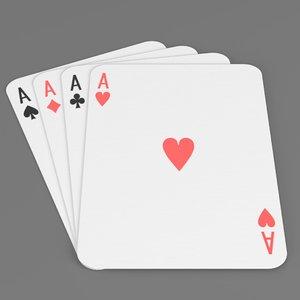 3D poker cards model