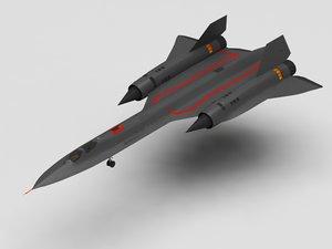 3D military flight model
