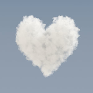 heart shaped cloud - model