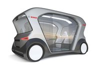 Electric Bosch IoT Shuttle with Interior