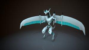 3D shooting star dragon