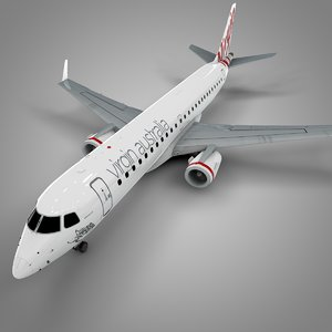 3D model virgin australia embraer190 l571