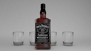 3D botella jack daniels