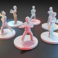 set miniatures startrek 3D model