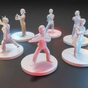 set miniatures startrek 3D model
