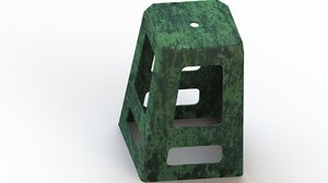 modelled plastic 3D model