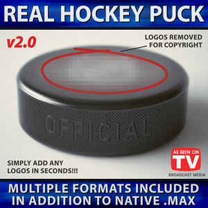 hockey puck official 3D model