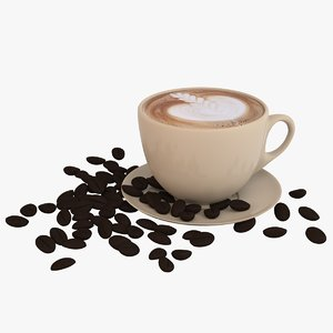 coffee latte art 3D