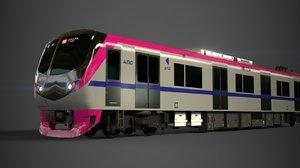 keio 5000 commuter train 3D model