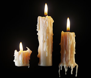 3D melted candles