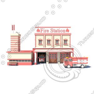 3D firestation01 model