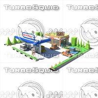 gasstation01 3D model