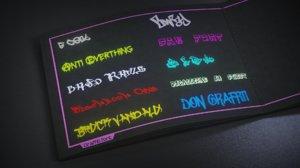 Text tool graffiti
