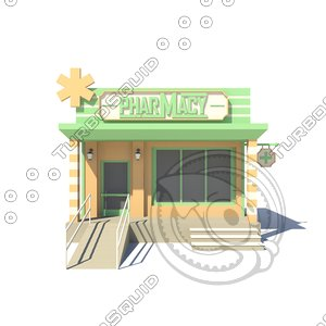 building pharmacy 3D model