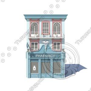 3D pharmacy 02 model