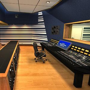 3D recording studio model